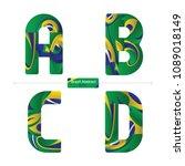 vector graphic alphabet in a... | Shutterstock .eps vector #1089018149