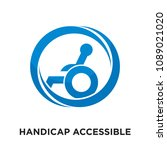 handicap accessible logo... | Shutterstock .eps vector #1089021020