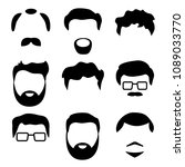 blank template man faces  black ... | Shutterstock .eps vector #1089033770