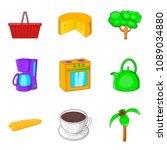 home food icon set. cartoon set ... | Shutterstock . vector #1089034880