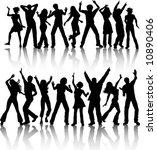 people dancing | Shutterstock .eps vector #10890406