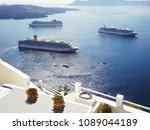 ferries running on aegeans sea... | Shutterstock . vector #1089044189