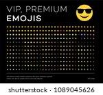 premium emojis  stickers ... | Shutterstock .eps vector #1089045626