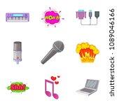 studio vocal icons set. cartoon ... | Shutterstock . vector #1089046166