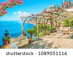 beautiful terrace with table ... | Shutterstock . vector #1089051116