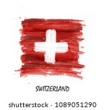 watercolor painting flag of... | Shutterstock .eps vector #1089051290