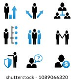 business and management icons... | Shutterstock .eps vector #1089066320