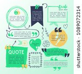 hand drawing block quote and... | Shutterstock .eps vector #1089072314