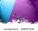 Abstract Grunge Color Kayak...