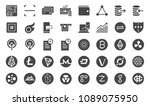 cryptocurrency trading icon set.... | Shutterstock .eps vector #1089075950