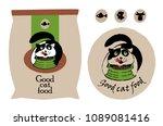 packaging of cat food. cat... | Shutterstock .eps vector #1089081416