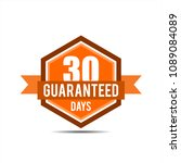 30days guaranteed  30 days... | Shutterstock .eps vector #1089084089