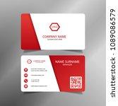 red modern creative business... | Shutterstock .eps vector #1089086579