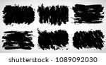 grunge ink stains  texture... | Shutterstock .eps vector #1089092030