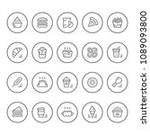 set round line icons of fast... | Shutterstock . vector #1089093800