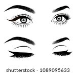 illustration of woman's sexy...   Shutterstock .eps vector #1089095633