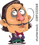 the comic caricature.  a funny... | Shutterstock .eps vector #1089102068