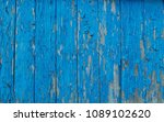 clogged paint. wooden blue... | Shutterstock . vector #1089102620