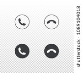 set of phone icon isolated on...