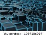 abstract 3d rendering of... | Shutterstock . vector #1089106019