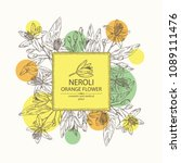 background with neroli  orange... | Shutterstock .eps vector #1089111476