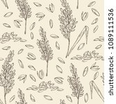 Seamless Pattern With Rice And...