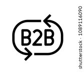 b2b icon  vector illustration | Shutterstock .eps vector #1089116090