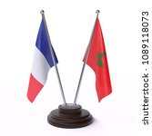 france and morocco  two table... | Shutterstock . vector #1089118073