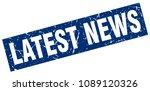 square grunge blue latest news... | Shutterstock .eps vector #1089120326