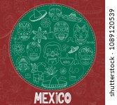 hand drawn traditional symbols. ... | Shutterstock .eps vector #1089120539