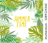 illustration of cute tropical... | Shutterstock .eps vector #1089124340