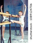 boy ballet dancer doing... | Shutterstock . vector #1089124706