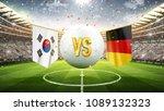 south korea vs germany. soccer... | Shutterstock . vector #1089132323