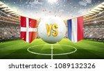denmark vs france. soccer... | Shutterstock . vector #1089132326