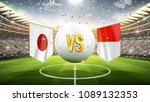 japan vs poland. soccer concept.... | Shutterstock . vector #1089132353