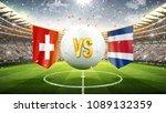 switzerland vs costa rica.... | Shutterstock . vector #1089132359