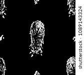 creepy zombie head pattern.... | Shutterstock .eps vector #1089143324