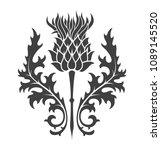 thistle silhouette print... | Shutterstock .eps vector #1089145520