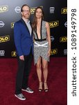 "Small photo of LOS ANGELES - MAY 10: Ptolemy Slocum and Angela Sarafyan arrives to the ""Solo: A Star Wars Story"" World Premiere on May 10, 2018 in Hollywood, CA"