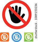 don't touch icon | Shutterstock .eps vector #1089153236