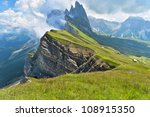 odle mountains chain separating ... | Shutterstock . vector #108915350