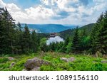 mummelsee in black forest  ... | Shutterstock . vector #1089156110