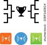 sports bracket icon | Shutterstock .eps vector #1089160814