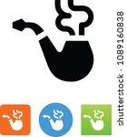 vector tobacco pipe icon | Shutterstock .eps vector #1089160838