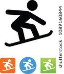 snowboarding symbol. vector... | Shutterstock .eps vector #1089160844