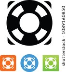 vector life preserver icon | Shutterstock .eps vector #1089160850