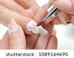 amazing 3d flower nail art...   Shutterstock . vector #1089164690