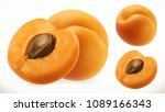 apricot. fresh fruit 3d... | Shutterstock .eps vector #1089166343