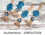 turkish evil eye beaded door... | Shutterstock . vector #1089167636