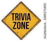 trivia zone vintage rusty metal ... | Shutterstock .eps vector #1089171893